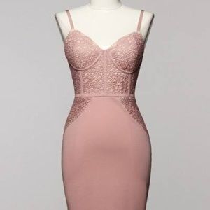 Dresses & Skirts - Lace Bustier Bodycon Dress NWT